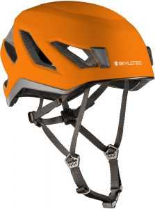 Der SKYLOTEC VISO Helm in grau-orange